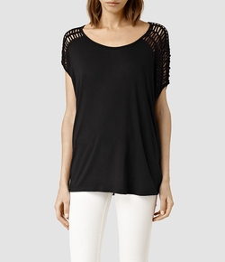All Saints - Simmo Drape Top