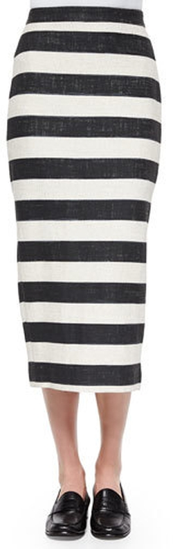 A.L.C. - Guy Striped Pencil Midi Skirt