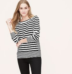 Loft - Petite Mixed Stripe T-Shirt