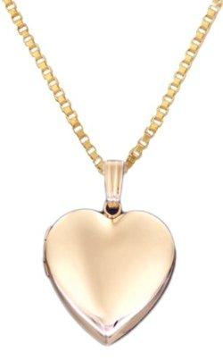 Watch Galore - 14k Gold Heart Locket Necklace
