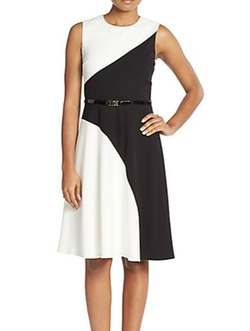 Calvin Klein - Belted A-Line Dress