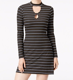 Material Girl - Ribbed Striped Dress