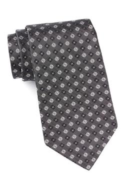 John Varvatos  - Silk Diamante Neat Tie