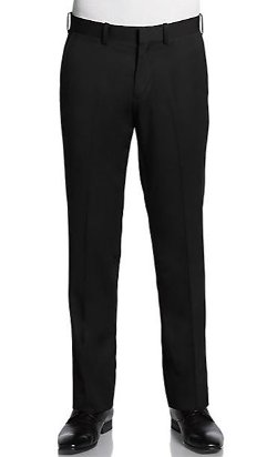 Saks Fifth Avenue Red - Trim-Fit Wool Trousers