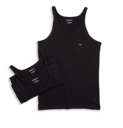 Emporio Armani - Solid Cotton Tank Top