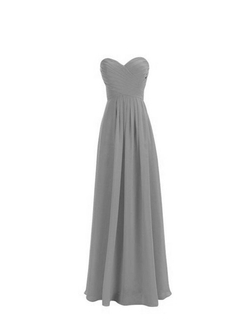Hao Si Jie - Strapless Chiffon Evening Party Dress