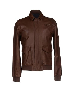 Ceralacca - Leather Classic Neckline Jacket