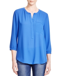 NYDJ  - High/Low Hem Pleat Blouse