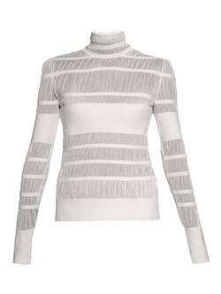 Alexander McQueen - Striped-Knit High-Neck Sweater