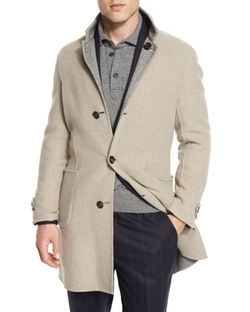 Brunello Cucinelli - Reversible Wool-Blend Overcoat