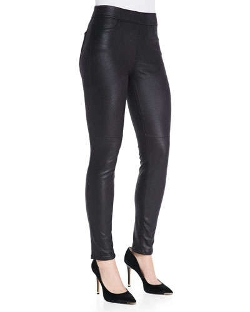 Jen7 - Leather-Like Ponte Skinny Jeans