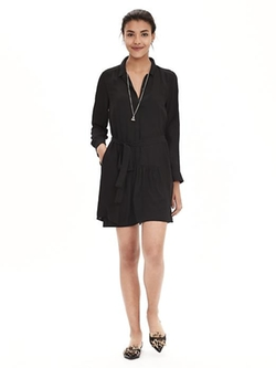 Banana-Republic - Crepe Shirtdress