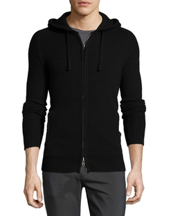Helmut Lang   - Cashmere Zip-Up Hoodie