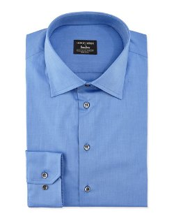 Giorgio Armani   - Basic Cotton Dress Shirt