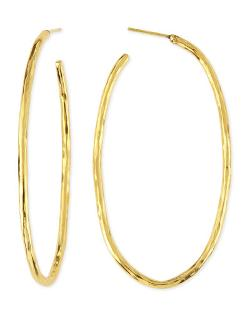 Herve Van Der Straeten   - Epure 24k Gold-Plated Simple Tube Hoop Earrings