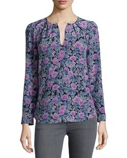 Joie - Zahira Floral-Print Silk Top