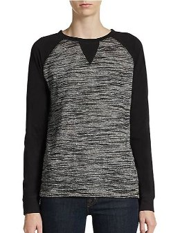 Saks Fifth Avenue BLUE  - Space-Dyed Raglan Pullover