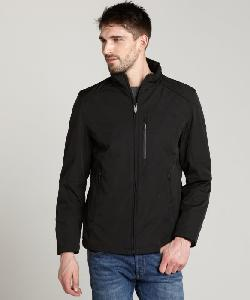 T-TECH TUMI - Black Zip Front Coat