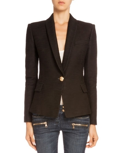 Balmain - Tweed One-Button Jacket