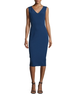 Michael Kors Collection - Sleeveless V-Neck Sheath Dress