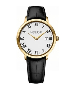 Raymond Weil - Toccata Goldtone and Leather Watch