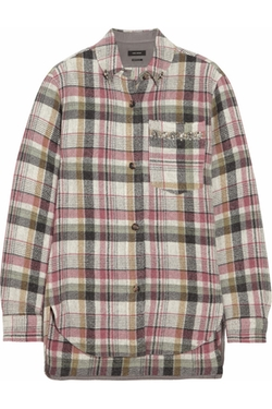 Isabel Marant - Milane Embellished Plaid Shirt
