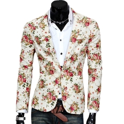 Your Gallery - Flower Print Spring Blazer Jacket
