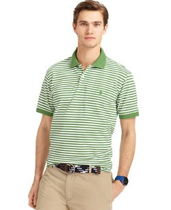 Izod - Slim-Fit Striped Pique Polo