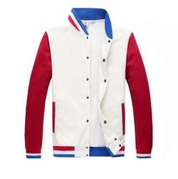 Meilaier - Color Blocking Baseball Jacket