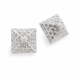CC Skye - Pavé Pyramid Stud Earrings