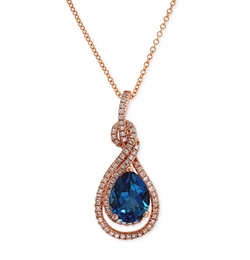 Effy Collection - Topaz And Diamond Pendant Necklace