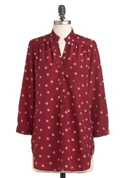 Modcloth - Hosting for the Weekend Tunic Top in Merlot