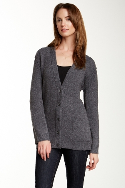 Inhabit - V-Neck Long Sleeve Cardigan Sweater