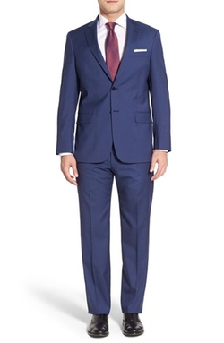 Hart Schaffner Marx - Classic Fit Solid Wool Suit