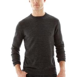 Claiborne - Jacquard Crewneck Sweater