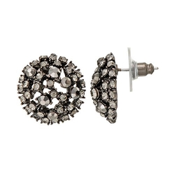 GS By Gemma Simone - Parisian Treasures Collection Dome Stud Earrings