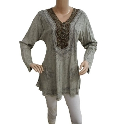 Ibaexports - Rayon Long Sleeve Tunic Top