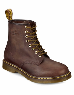 Dr. Martens - Distressed Leather Combat Boots