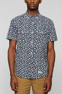 CPO  - Floral Short-Sleeve Button-Down Shirt