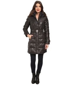 Dkny - Belted Pillow Collar Coat