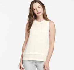 Johnston & Murphy - Sleeveless Layered-Hem Blouse