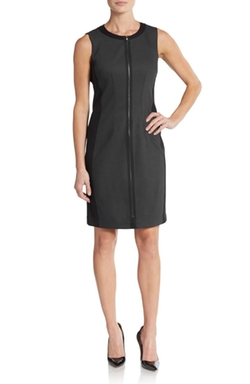 T Tahari  - Avani Blocked Zipper Sheath Dress