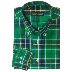 Kenneth Gordon  - Multi-Plaid Sport Shirt