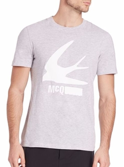McQ Alexander McQueen  - Swallow Logo Crewneck Tee