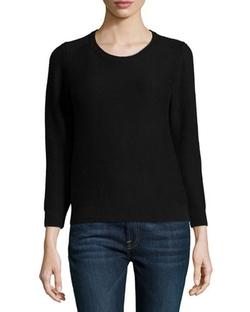 Neiman Marcus - Crewneck Chunky Needlepoint Sweater