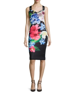 Ted Baker London  - Alexie Floral-Print Sheath Dress