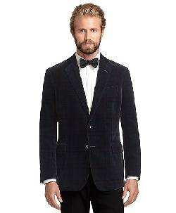 Brooks Brothers - Regent Fit Tartan Velvet Dinner Jacket