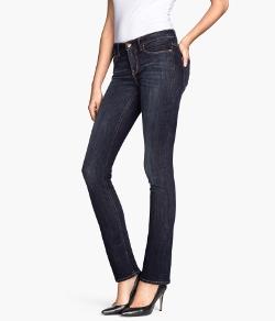 H & M - Straight Fit Denim Jeans