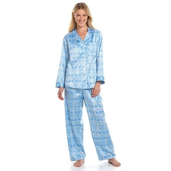 Miss Elaine Essentials Pajamas - Printed Satin Pajama Set