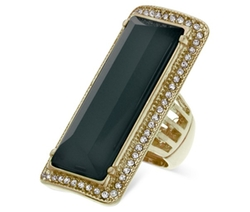 Guess - Rectangular Stone Stretch Ring